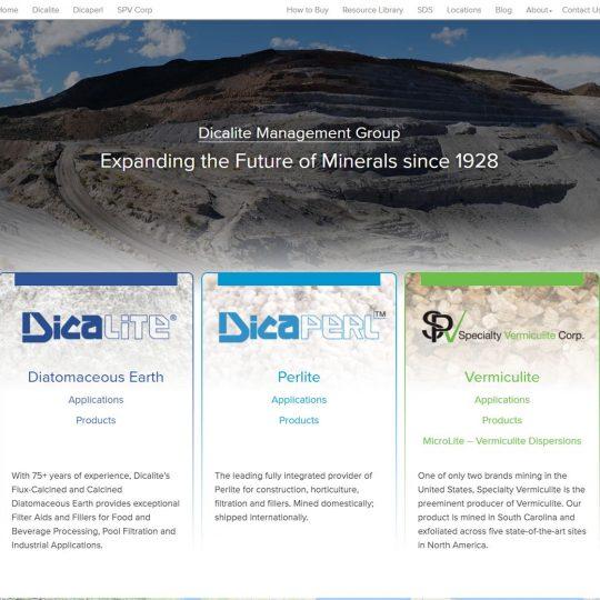Dicalite.com homepage